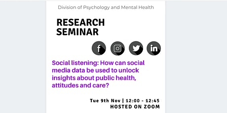 Division of Psychology and Mental Health Research Seminar tickets