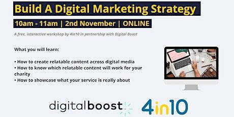 Build A Digital Marketing Strategy: 4in10 & Digital Boost tickets
