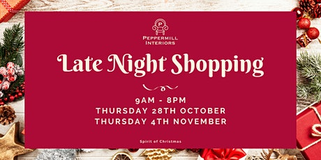 Peppermill Interiors Late Night Shopping Event tickets