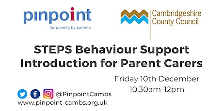 STEPS Behaviour Support Introduction for Parent Carers tickets