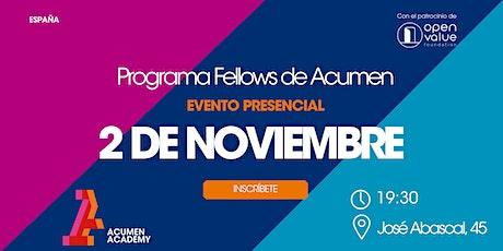 Sesión Informativa Programa de Fellows de Acumen entradas