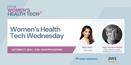 Women's Health Tech Wednesdays Meg Columbia-Walsh from Amazon Web Services tickets