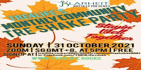 TRE4Life Monthly Community Shake October Zoom Edition tickets