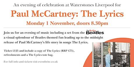 An evening of celebration for Paul McCartney: The Lyrics - WS Liverpool tickets