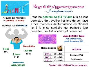 Stage en développement personnel billets