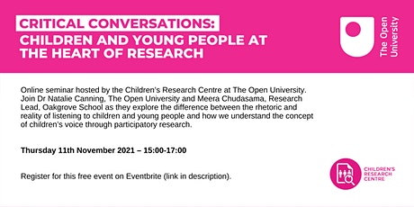 Critical conversations: Children and young people at the heart of research tickets