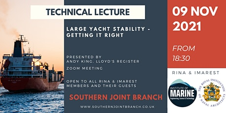 Large Yacht Stability - Getting it Right tickets