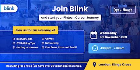 Blink Open House: Fintech Recruitment Day in London-Nov 2021 tickets