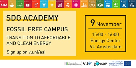 Fossil Free Campus – Transition to Affordable and Clean Energy tickets
