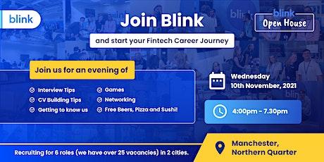 Blink Open House: Fintech Recruitment Day in Manchester- Nov 2021 tickets