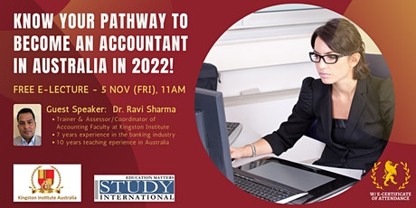 Study Accounting & Migrate to Australia with Kingston Institute Australia! tickets