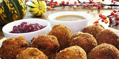 Seasonal Risotto with Pears, Cranberries & Pancetta… Arancini Techniques!