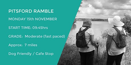 PITSFORD RESERVOIR RAMBLE | 7 MILES | MODERATE | NORTHANTS tickets