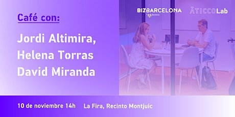 Café con… Jordi Altimira, Helena Torras o David Miranda entradas
