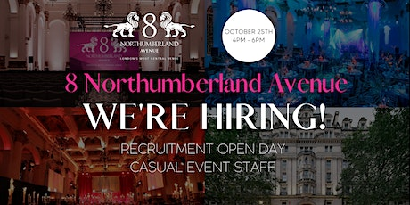 Casual Event Staff - Recruitment open day tickets