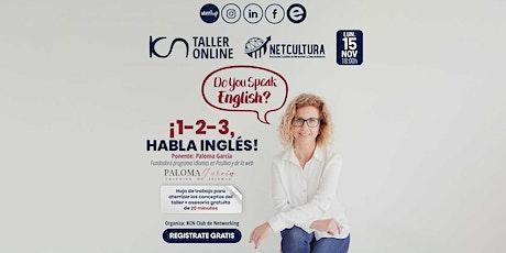 Taller Online ¡1-2-3, habla inglés! 15 Nov entradas