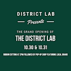 District Lab Grand Opening Pop up Shop tickets