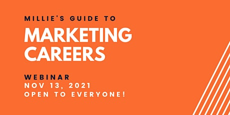 WEBINAR   Millie's Guide to Marketing Careers tickets