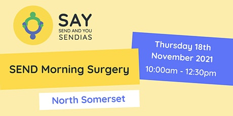 North Somerset Morning SEND Surgery - Thursday 18th November 2021 tickets