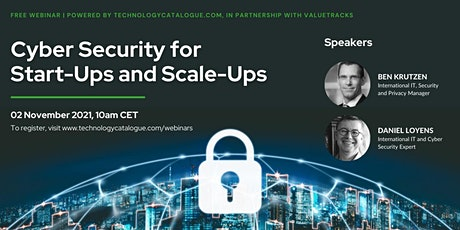Cyber Security for Start-Ups and Scale-Ups tickets