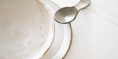 Taster pottery class: spoon, plate and bowl (dinnerware set) tickets