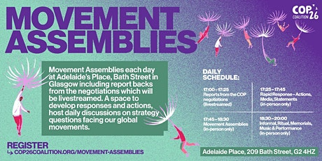 COP26 Movement Assemblies for Climate Justice tickets