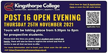 Post 16 Open Evening tickets