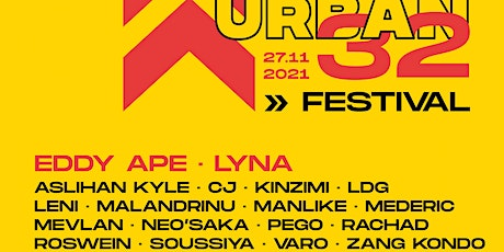 URBAN32 Festival: Concerts, Cypher, Music Videos Awards, Photo Exhibition tickets