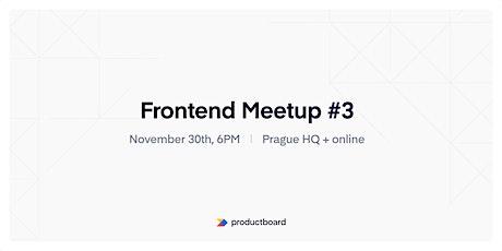 Frontend Meetup PRG #3 tickets