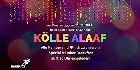 Member Breakfast Köln am 11.11. Tickets