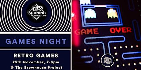 Retro Games Night tickets