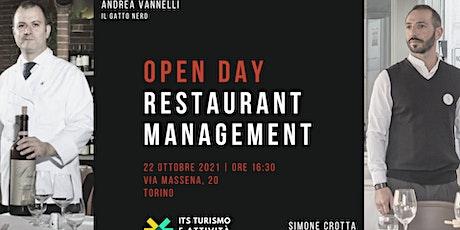 Open Day: Restaurant Management biglietti