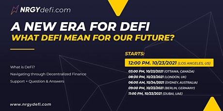 Closing the gap in DeFi. Introduction to Decentralized Finance tickets