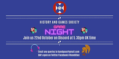 History and Games Society Game Night! tickets