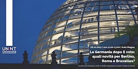 La Germania dopo il voto: quali novità per Berlino, Roma e Bruxelles? biglietti