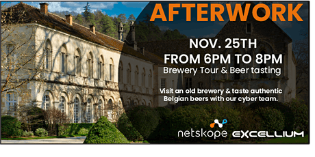 Authentic beer tasting with Netskope & Excellium Services Belgium billets