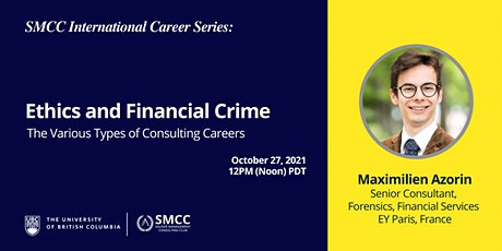SMCC International Career Series: Ethics and Financial Crime tickets