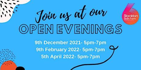 Stockton Sixth Form Open Evening tickets