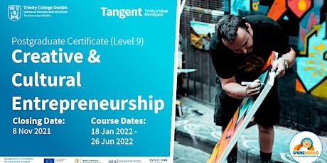 Tangent Open Evening: Certificate in Creative & Cultural Entrepreneurship tickets