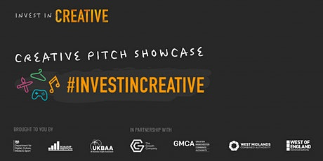 Invest in Creative pitch showcase tickets