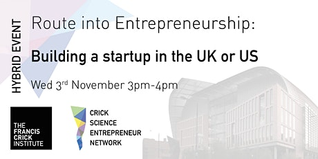 Route into Entrepreneurship: Building a startup in the UK or US tickets