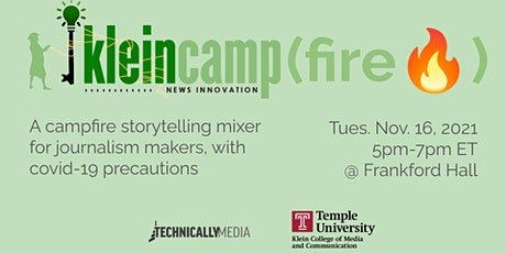 The Klein News Innovation Camp(fire) Storytelling Edition tickets
