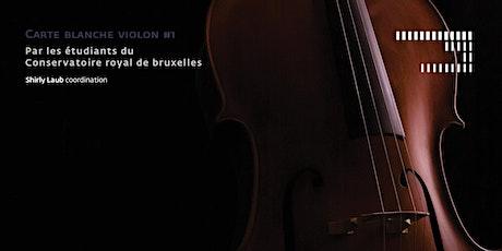 Carte blanche violon #1 billets