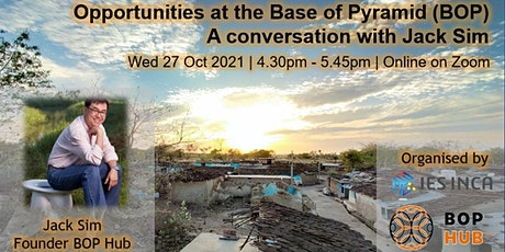 Opportunities at the Base of Pyramid (BOP) - A conversation with Jack Sim tickets