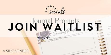 Sonder Social: November Journal Prompts tickets