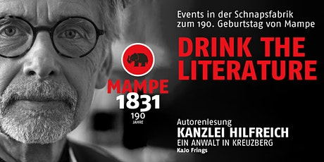 DRINK THE LITERATURE Tickets