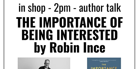 author talk: The Importance Of Being Interested by Robin Ince tickets