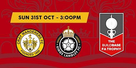 Cray Wanderers VS Kings Langley tickets