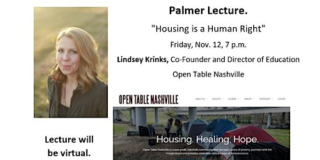 """""""Housing is a Human Right"""" by Open Table Nashville - Annual Palmer Lecture tickets"""