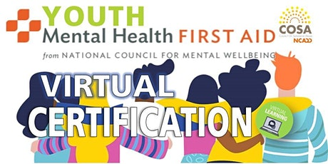 Youth Mental Health First Aid Certification Virtual 11/10 9CST (Alabamians) tickets